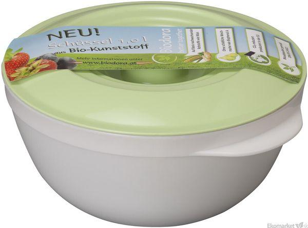 Eko - miska s pokrievkou z bioplastu Biodora 1l