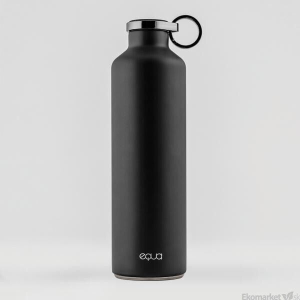 Ekologická termo fľaša EQUA BASIC Dark Grey 680 ml