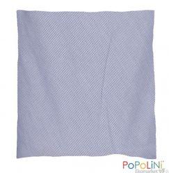 Nahrievací vankúšik s jadierkami s čerešní 23x26 cm - modrý pásik