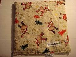 Nahrievací vankúšik s jadierkami s čerešní Ekomarket 19x19cm - vianočný