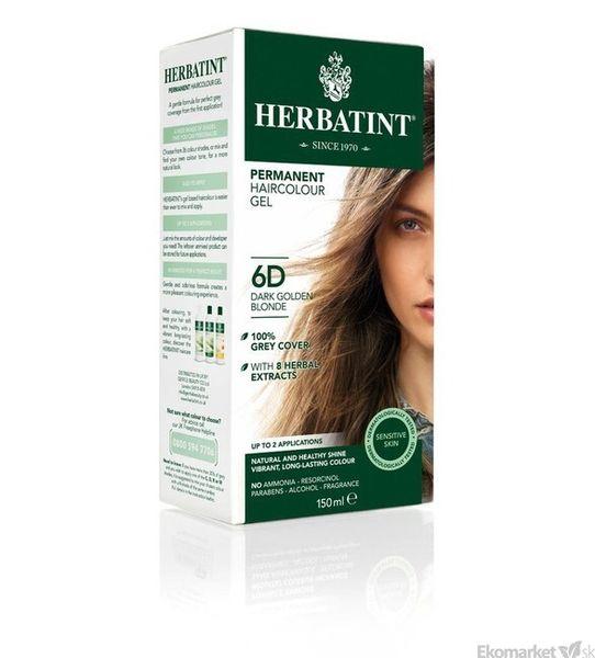 Prírodná farba na vlasy Herbatint 6D - tmavá zlatá blond