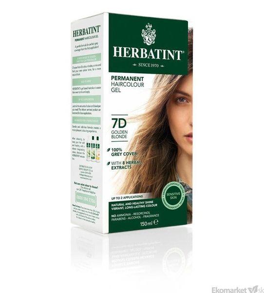 Prírodná farba na vlasy Herbatint 7D - zlatá blond