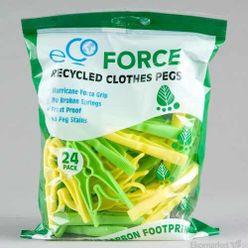 Recyklované štipce na prádlo Ecoforce 24ks