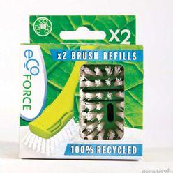 Recyklovateľná kefa Ecoforce - náhradná hlavica 2ks
