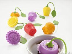 Silikónové sitko na čaj Brandani - žltá ruža