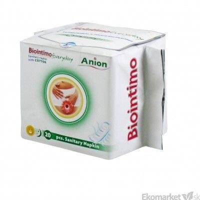 Anionové intímne vložky Biointimo 20 ks