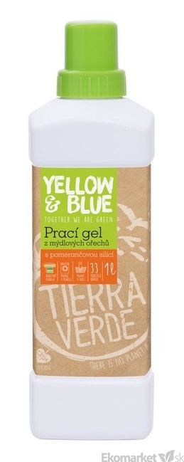 Eko-gél na pranie z mydlových orechov Tierra Verde-pomaranč 1 l ... d0c2e42f4a8