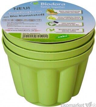 Eko - pudingové formičky z bioplastu Biodora 3ks