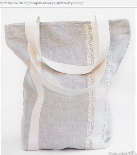 Ľanový nákupná taška 35x40 cm
