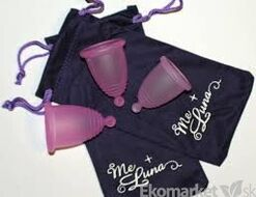 Menštruačný kalíšok MeLuna s guličkou XL - ružový