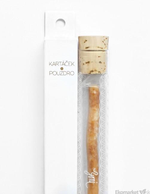 Prírodná originálna zubná kefka YONI zo Salvadory perskej + sklenné púzdro 2253ffe14ae