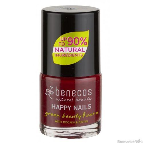 Prírodný lak na nechty Benecos - cherry red 8 free 5 ml
