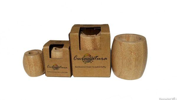 Bambusový stojanček na zubnú kefku Curanatura (1ks) malý