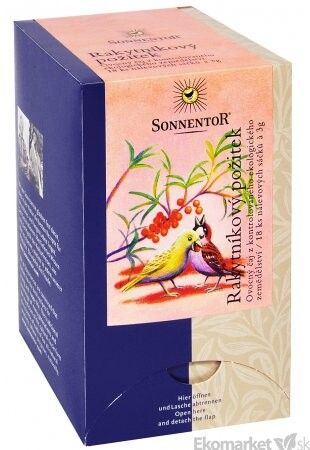 BIO Čaj Rakytníkový pôžitok Sonnentor - porcovaný