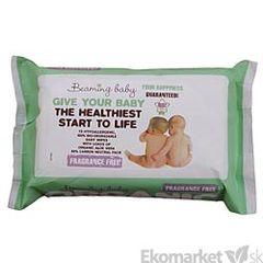 BIO - degradovateľné detské vlhčené obrúsky Beaming baby - bez vône 72ks