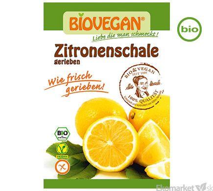 BIO sušená citrónová kôra Biovegan 10g - strúhaná