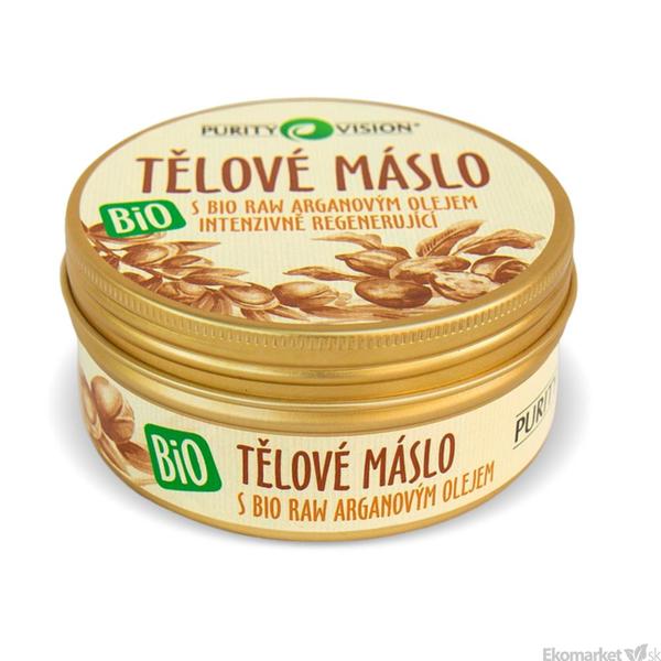 BIO Telové maslo s RAW argánovým olejom PURITY VISION 150 ml