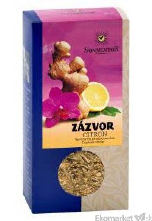 BIO Zázvor-citrón sypaný čaj Sonnentor 80g
