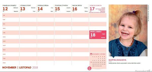 Charitatívny stolový kalendár 2018