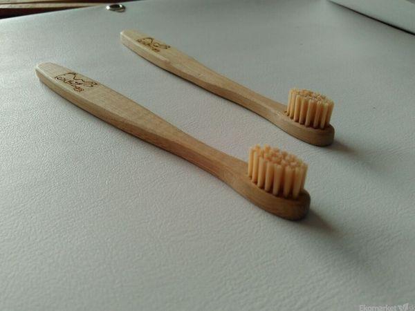 Detská bambusová zubná kefka Bamboo - Curanatura Junior