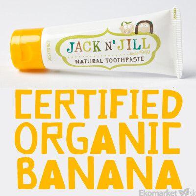 Prírodná detská zubná pasta banánová s nechtíkom Jack N' Jill