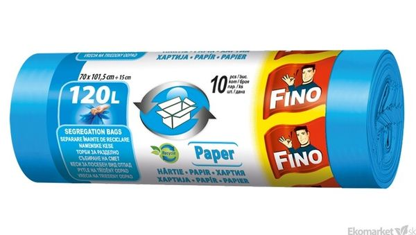 Eko - recyklované vrecia na odpad FINO EKO NATURA 120l /10ks (20μm)