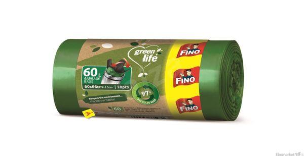Eko - rozložiteľné vrecia na odpad FINO EKO NATURA 60l /20ks (19μm)