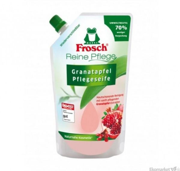 Eko - tekuté mydlo na ruky Frosch 500 ml - granátové jablko - náplň