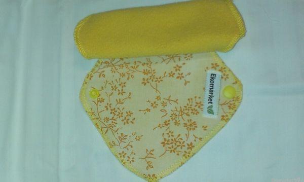 Látkové slipové vložky 4ks - žlté
