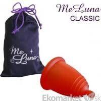 Menštruačný kalíšok MeLuna s guličkou L - červený