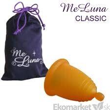 Menštruačný kalíšok MeLuna s guličkou L - oranžový