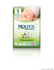 Moltex prírodné plienky Newborn 2-4kg 23 ks