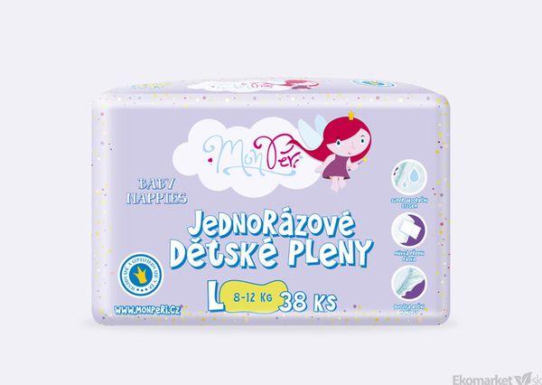 MonPeri ekologické detské jednorázové plienky L 8 - 12kg 38ks