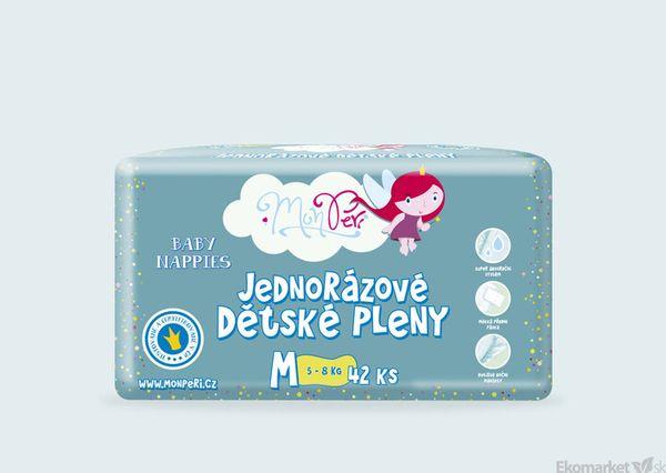 MonPeri ekologické detské jednorázové plienky M 5 - 8kg 42ks