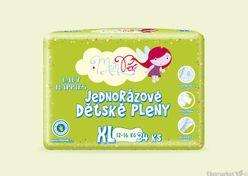 MonPeri ekologické detské jednorázové plienky XL 12 - 16kg 34ks