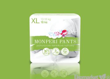 MonPeri ekologické nohavičkové jednorázové plienky XL 13-18kg 18ks