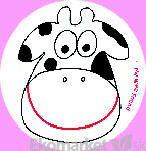 Nálepky na učenie na nočník My wee friend - kravička