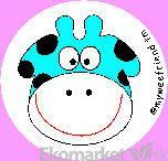 Nálepky na učenie na nočník My wee friend - modrá kravička