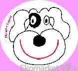 Nálepky na učenie na nočník My wee friend - psík