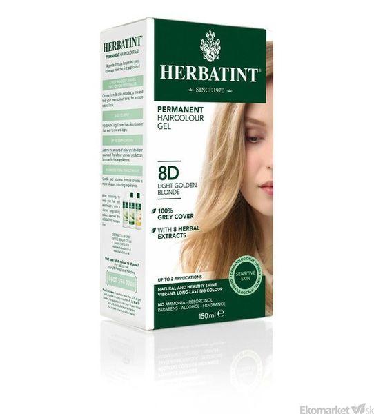 Prírodná farba na vlasy Herbatint 8D - svetlozlatá blond