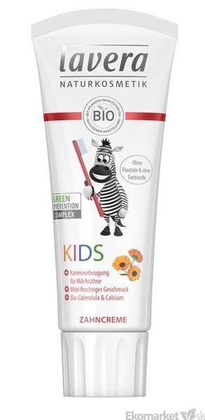 Prírodná detská zubná pasta Lavera 75 ml