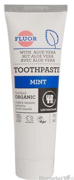 Prírodná zubná pasta mäta s fluórom URTEKRAM 75 ml