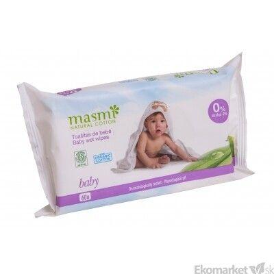 Prírodné detské vlhčené obrúsky MASMI 60 ks