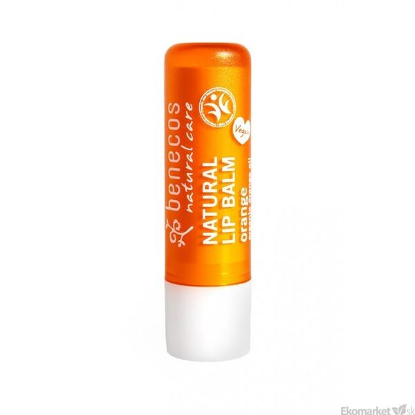 Prírodný balzám na pery Benecos 4,8 g - pomaranč