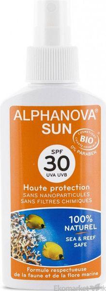 Prírodný opaľovací krém v spreji ALPHANOVA SPF 30 150ml