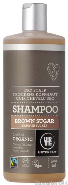 Prírodný šampón hnedý cukor URTEKRAM 500 ml