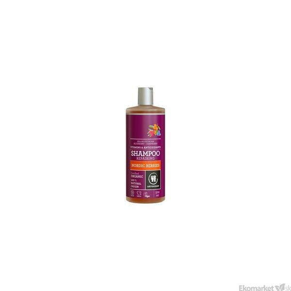 Prírodný šampón severské plody URTEKRAM 500 ml - poškodené vlasy