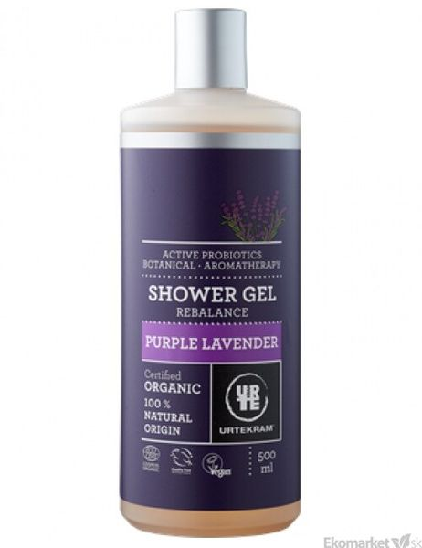 Prírodný sprchový gél URTEKRAM 500 ml - levanduľa