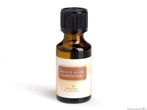 Prírodný masážny olej Naturinka 25ml - škorica-vanilka