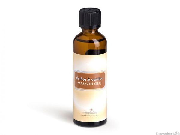 Prírodný masážny olej Naturinka 75 ml - škorica-vanilka